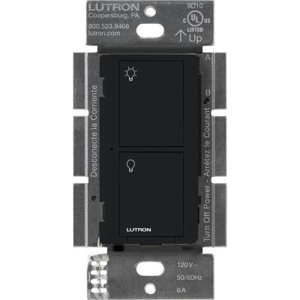 Caseta Wireless Smart Lighting Switch for All Bulb Types or Fans, Black