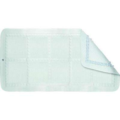 13.7 in. x 27.5 in. Anti-Bacterial Medium Croydelle Bath Mat in White