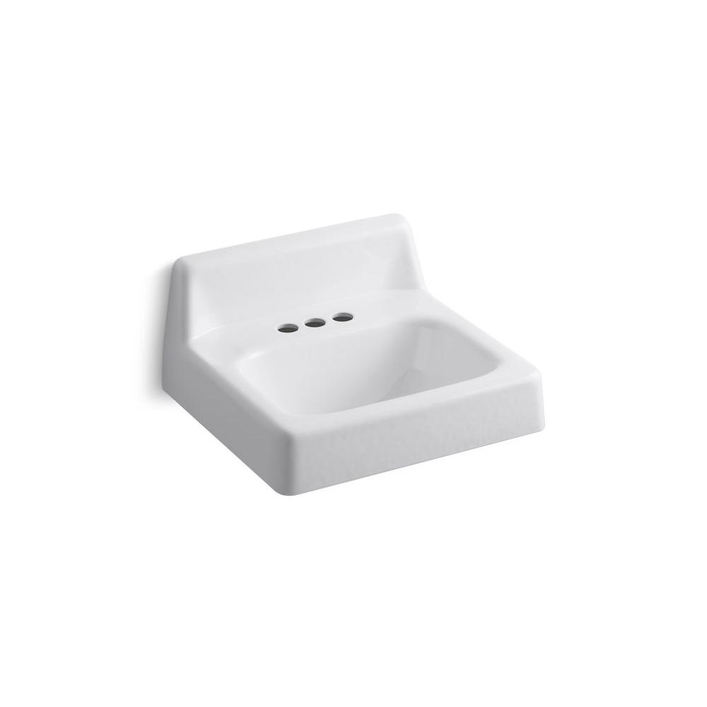 kohler wall mount bathroom sink kohler hudson wall mounted cast iron bathroom sink in 23590