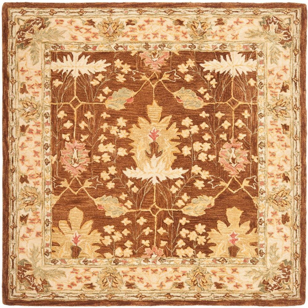Safavieh Anatolia Brown 8 Ft X 8 Ft Square Area Rug An540b 8sq