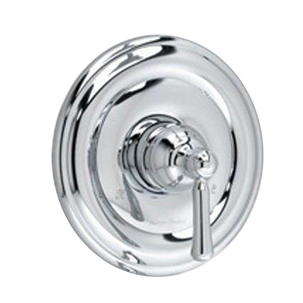 American Standard Portsmouth 1-Handle Valve Trim Kit in Polished Chrome with Round Escutcheon (Valve Not Included)