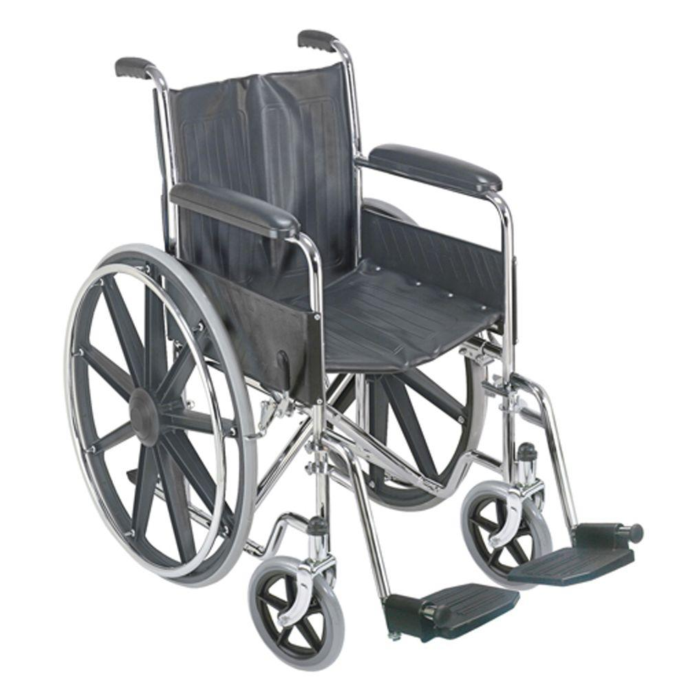 DURO-MED DMI Manual Wheelchair with Fixed Arm Rests