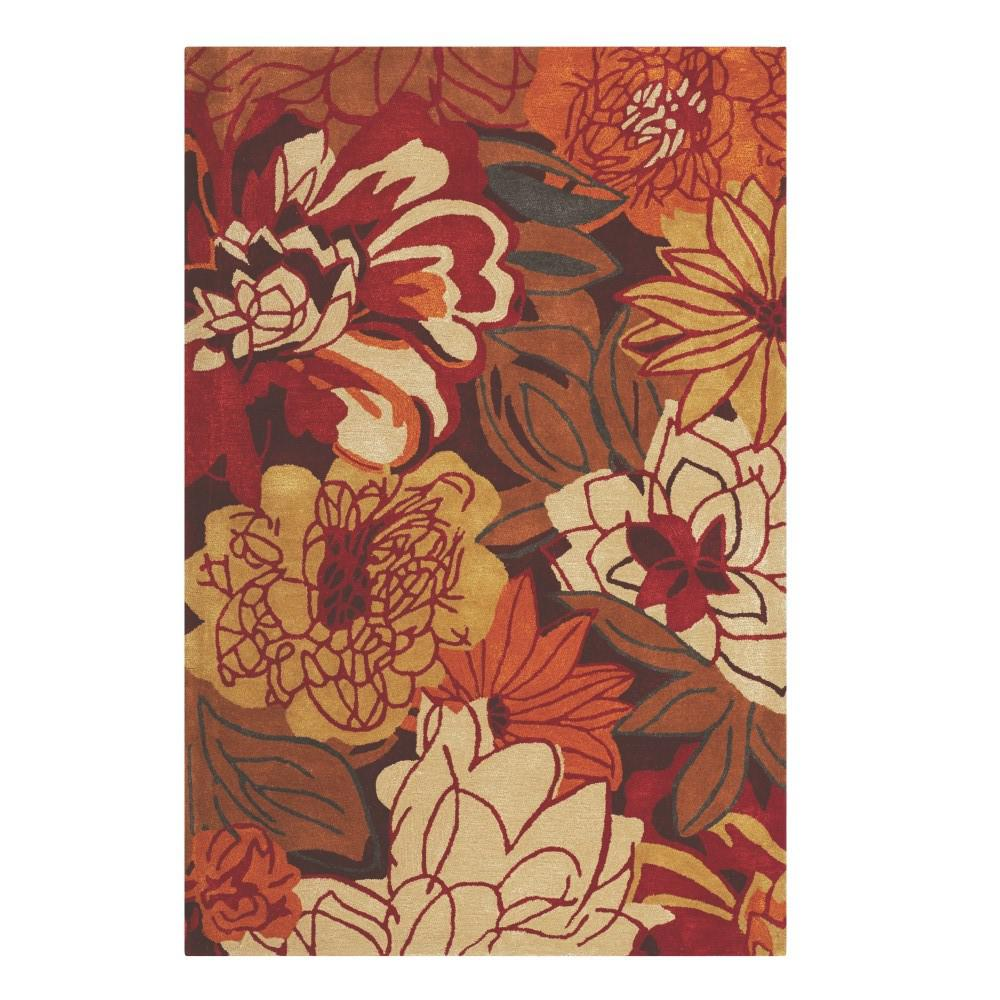 Serena Red Multi 5 ft. 3 in. x 8 ft. Area