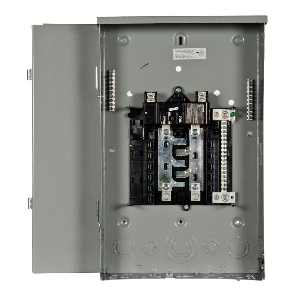Siemens Pl Series 200 Amp 8 Space 16 Circuit Main Breaker Outdoor Electrical Panel Ground Rod Trailer
