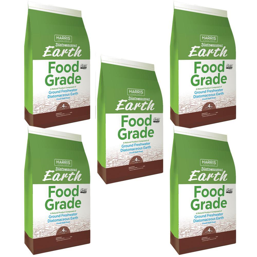 4 lbs. 64 oz. Diatomaceous Earth Food Grade 100% (5-Pack)