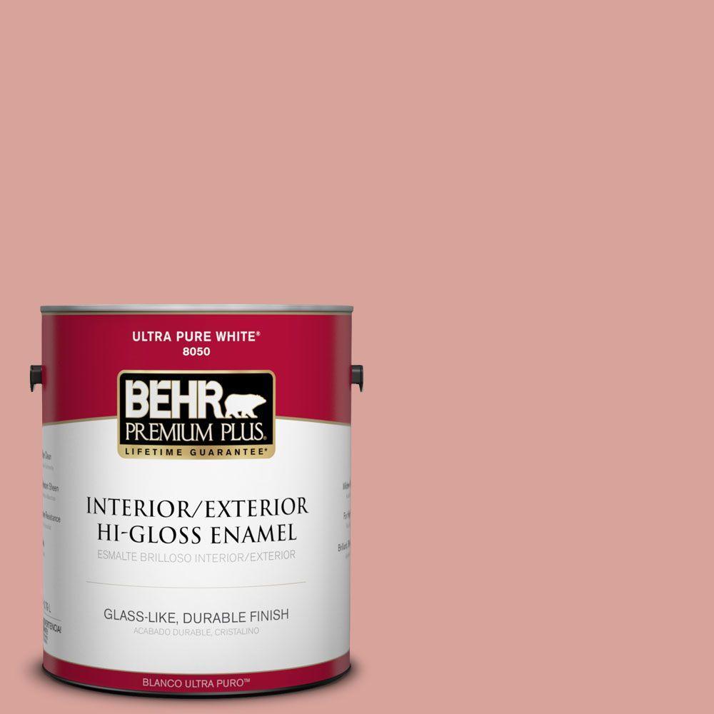 1-gal. #PMD-70 Cottage Rose Hi-Gloss Enamel Interior/Exterior Paint