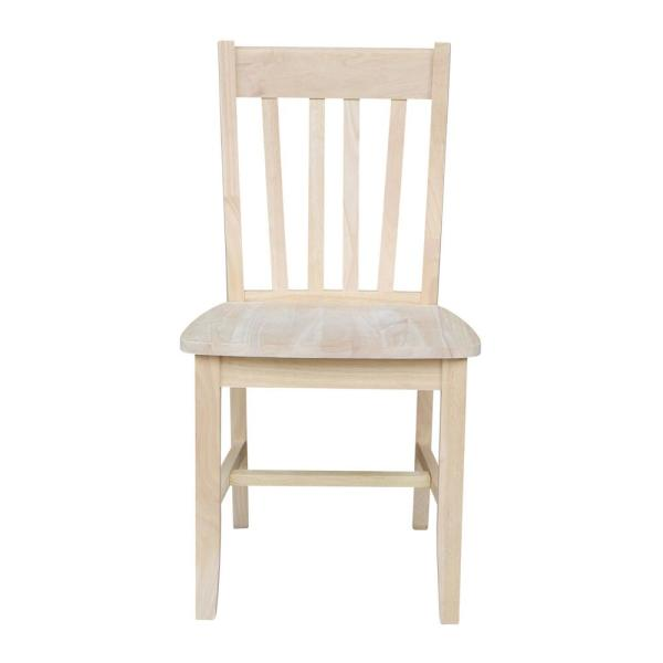 International Concepts Unfinished Wood Dining Chair Set Of 2 C 61p