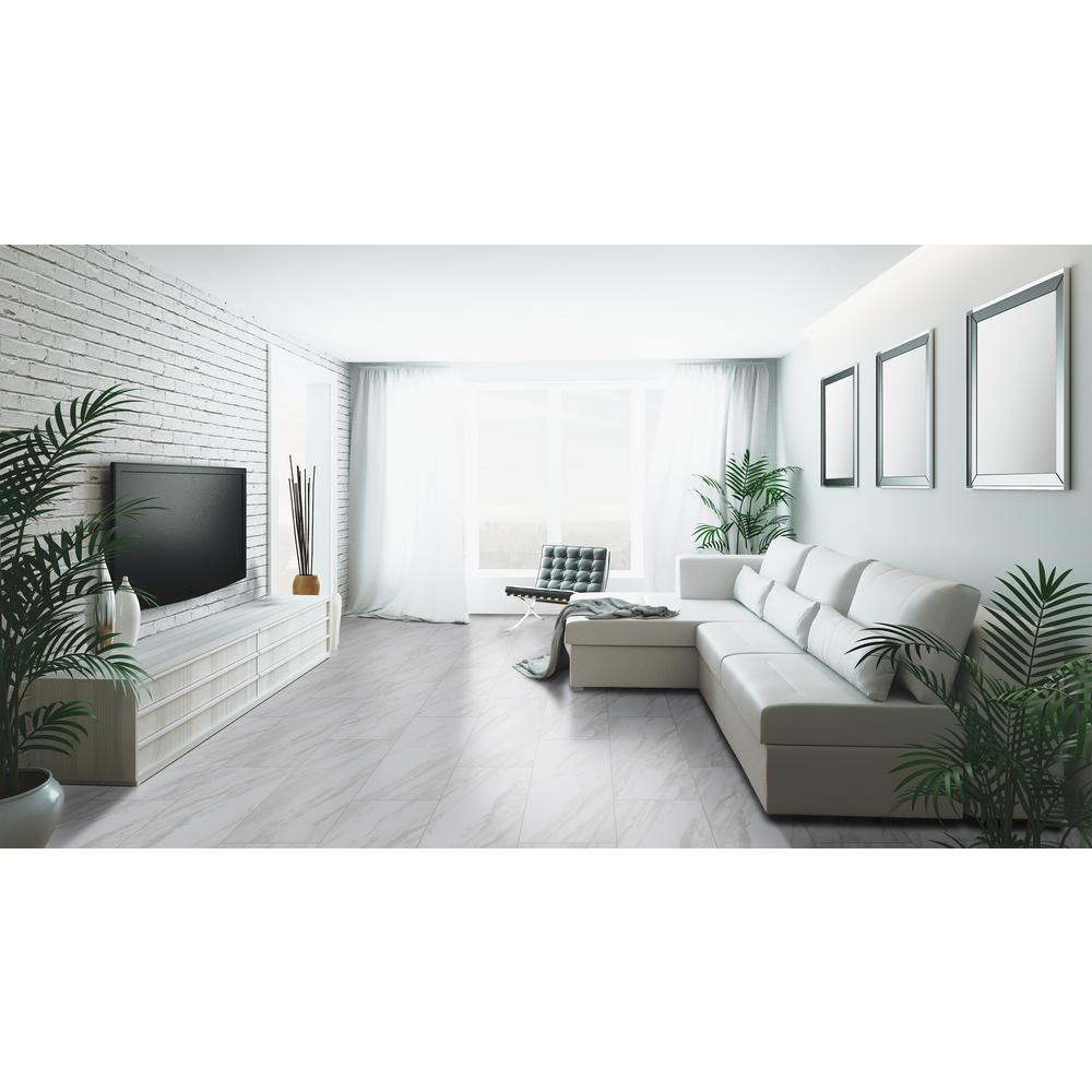 Home Decorators Collection Kolasus White 12 In X 24 Polished Porcelain Floor And Wall Tile 16 Sq Ft Case