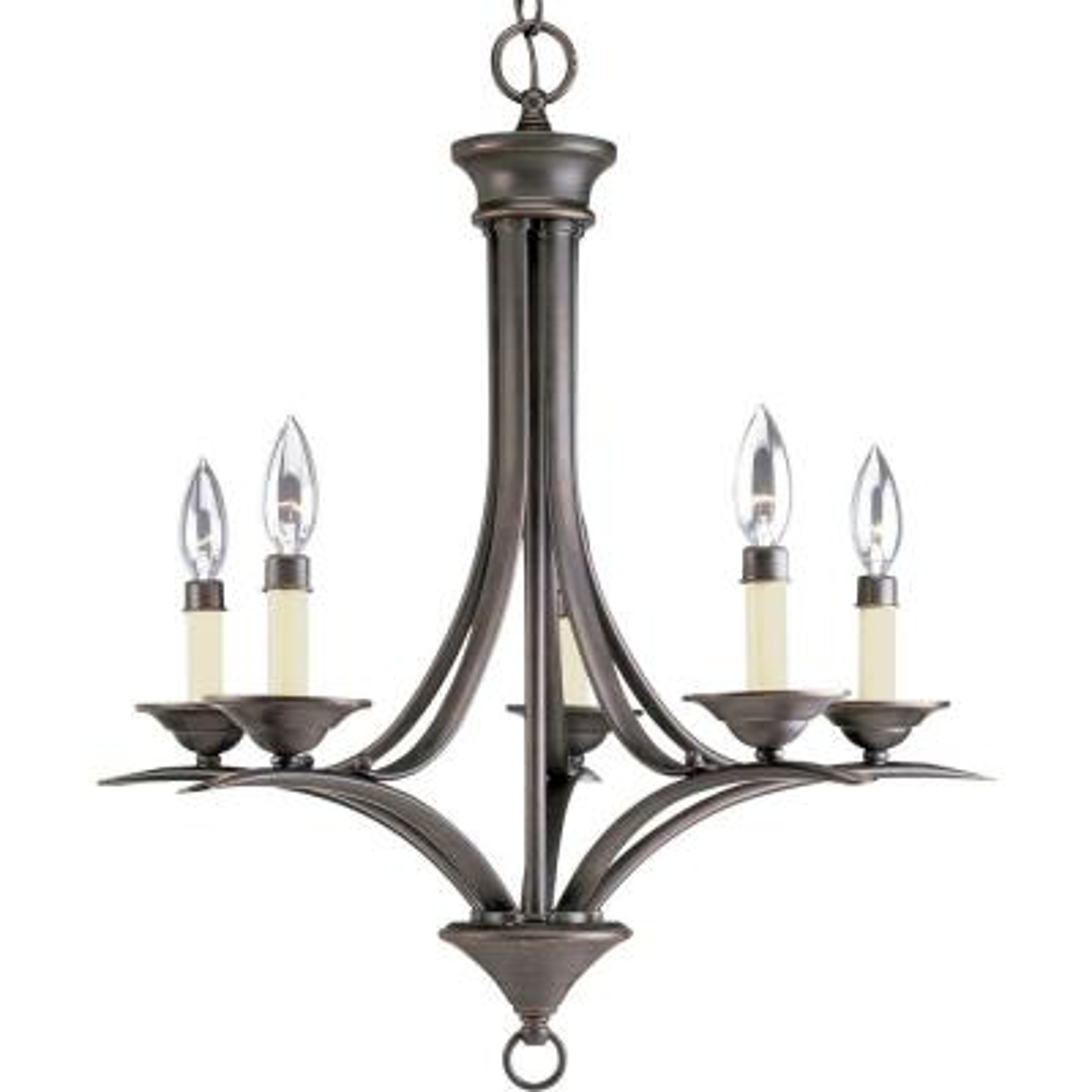 Trinity 5-Light Antique Bronze Chandelier