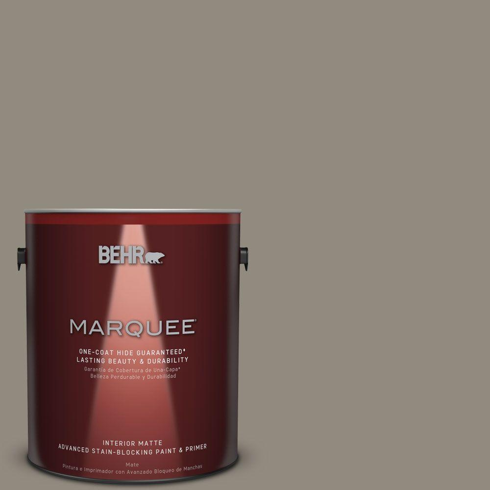 1 gal. #MQ6-25 Pavement Gray One-Coat Hide Matte Interior Paint