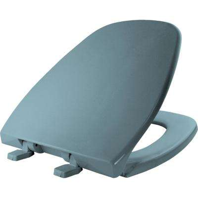 Round Closed Front Toilet Seat in Twilight Blue