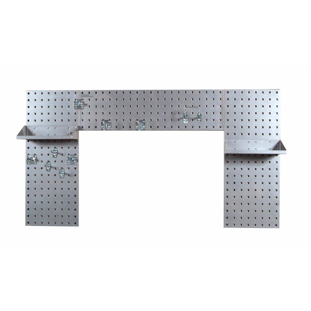 Triton 3/8 in. (3) 18-Gauge Steel Square Hole Pegboard Si...