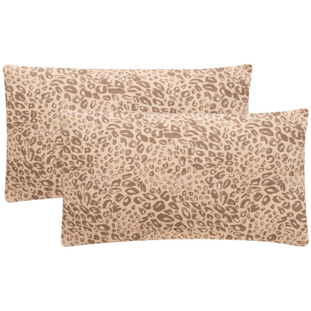 Safavieh Satin Leopard Printed Patterns Pillow (2-Pack), ...