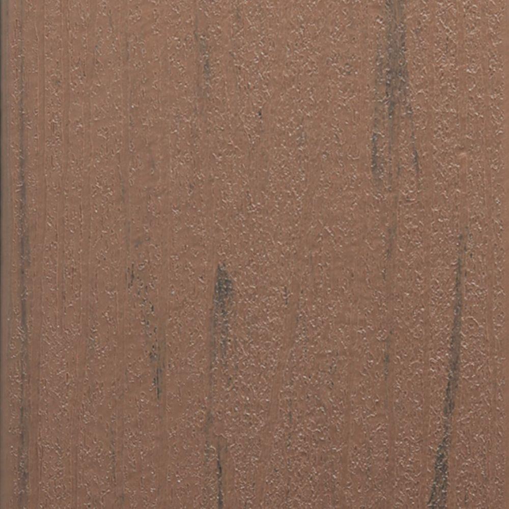 TimberTech PRO Terrain 1 in. x 5.5 in. x 16 ft. Brown Oak Grooved Composite Decking Board