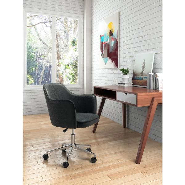 ZUO Keen Vintage Black Office Chair