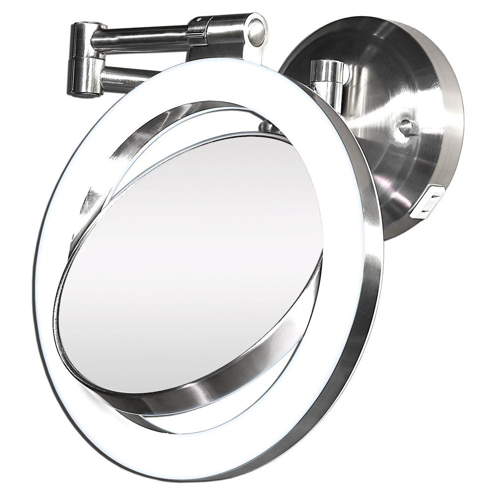 Zadro surround light 10x1x wall mirror in satin nickel slw410 the zadro surround light 10x1x wall mirror in satin nickel audiocablefo