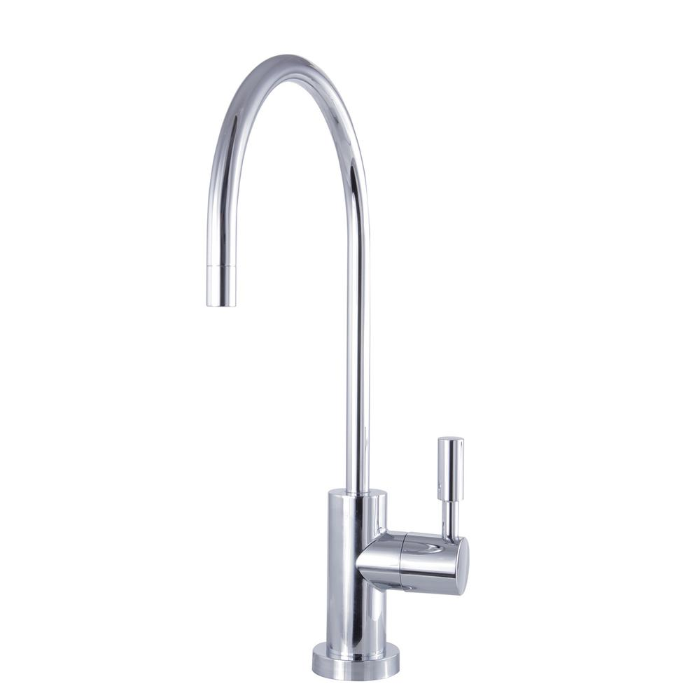 Modern Drinking Water Reverse Osmosis Single-Handle Filtration Faucet in Chrome