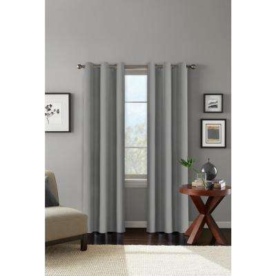 "100% Blackout Carson Grey Grommet Curain Panel 42"" W x 84"" L"