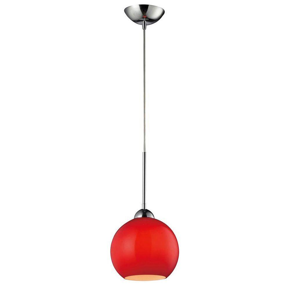 Titan Lighting 1-Light Ceiling Mount Polished Chrome Pendant-DISCONTINUED