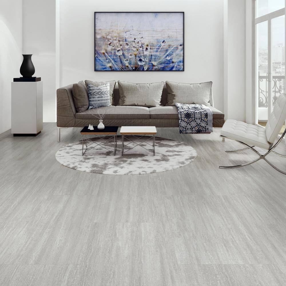 Lifeproof Capitola Silver 16 In W X 32, Grey Vinyl Plank Flooring Living Room