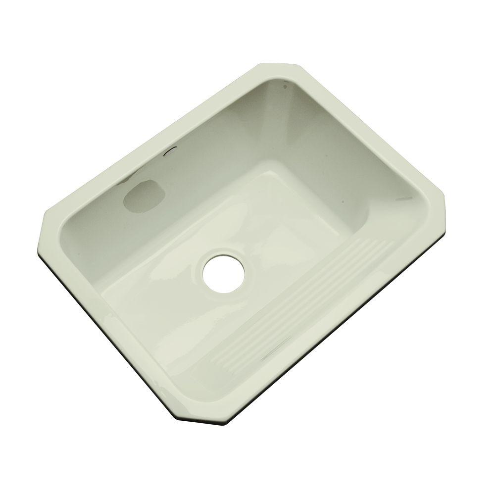 Thermocast Kensington Undermount Acrylic 25 in. Single Bowl Utility Sink in Jersey Cream