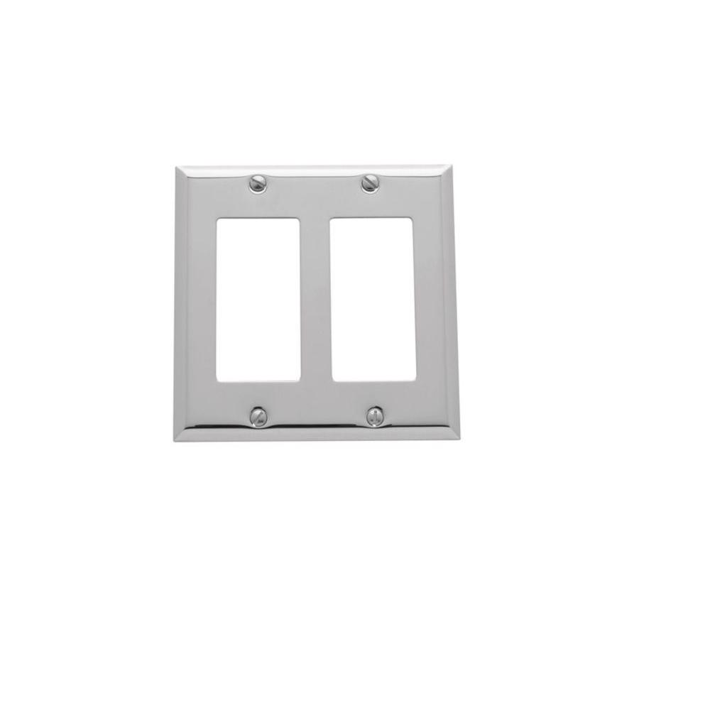 Baldwin Beveled Edge 2 Rocker Wall Plate - Polished Chrome