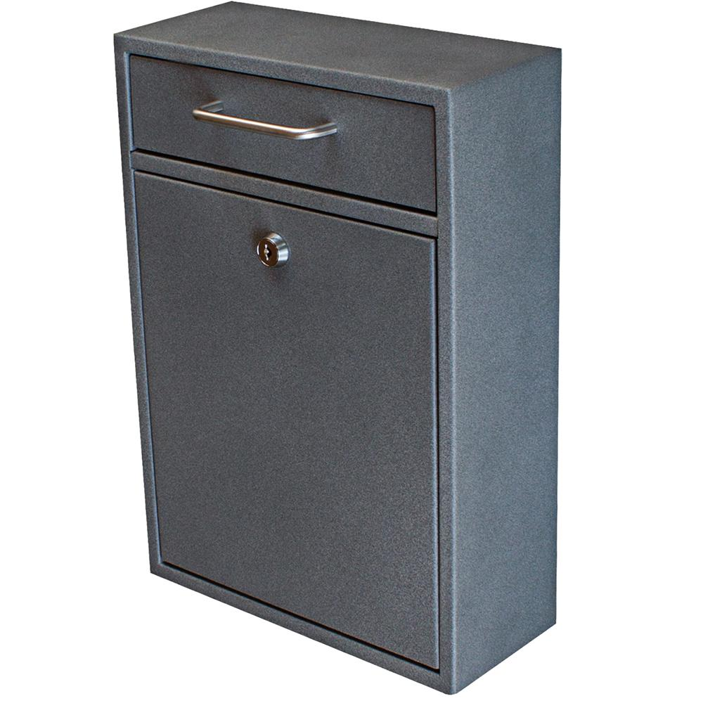 Olympus Locking Wall-Mount Drop Box with High Security Patented Lock, Granite