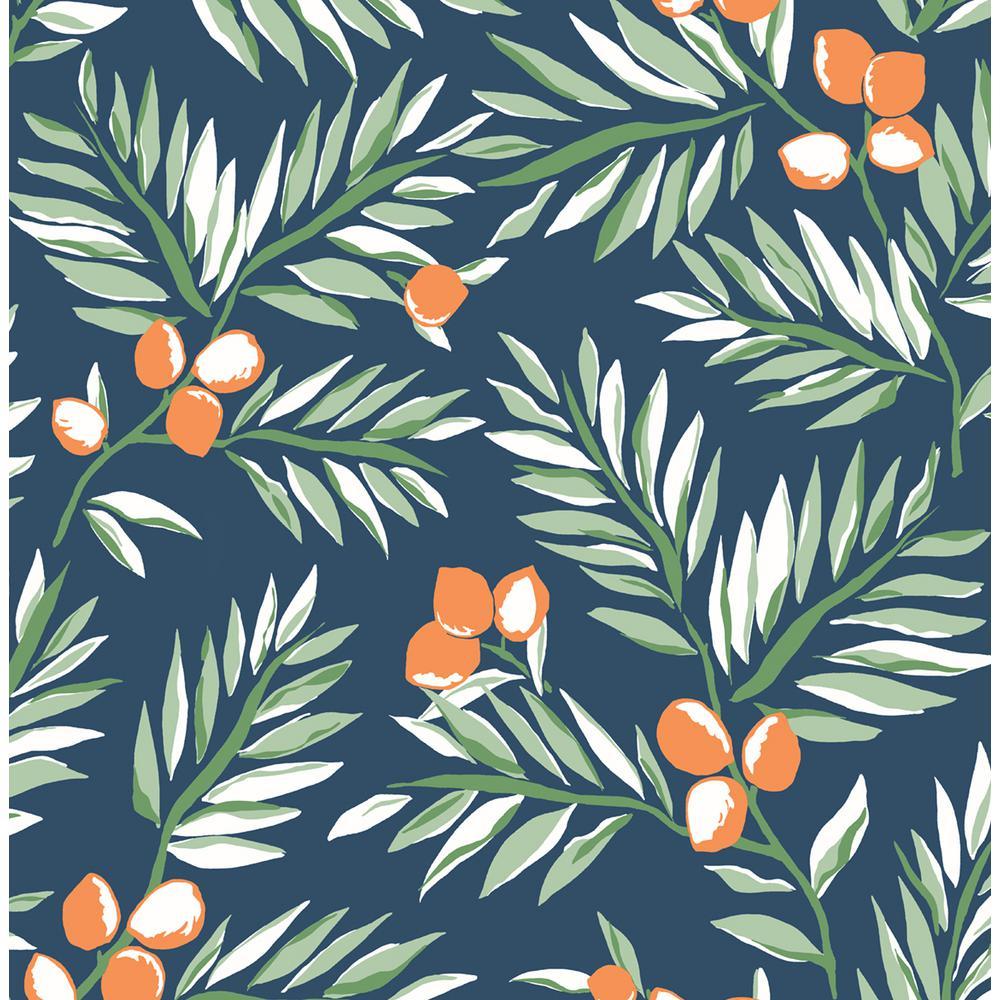 Citrus Branch Peel and Stick Wallpaper 30.75 sq. ft.