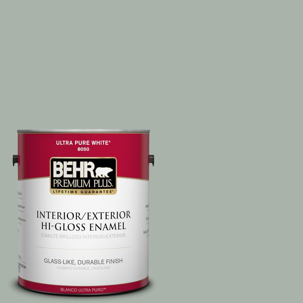 1-gal. #BXC-38 Alpine Air Hi-Gloss Enamel Interior/Exterior Paint