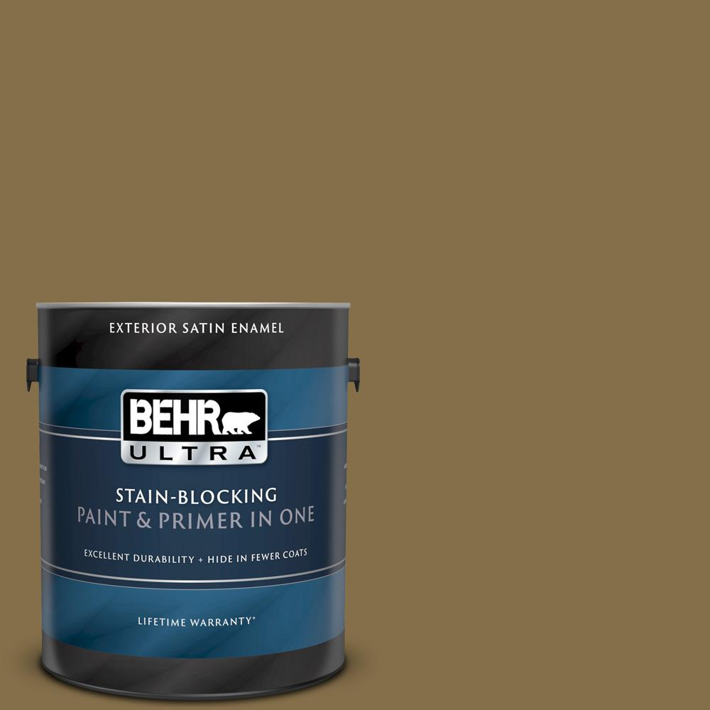 Behr Ultra 1 Gal 370f 7 Pinetop Satin Enamel Exterior Paint And Primer In One 985301 The Home Depot