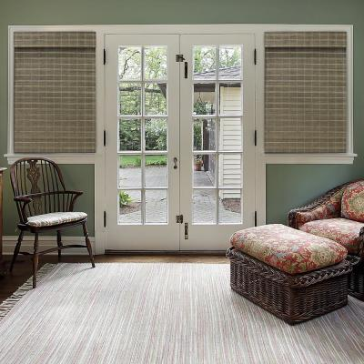 Cut-to-Size Driftwood Cordless Light-Filtering Textured Bamboo Shades 29 in. W x 64 in. L