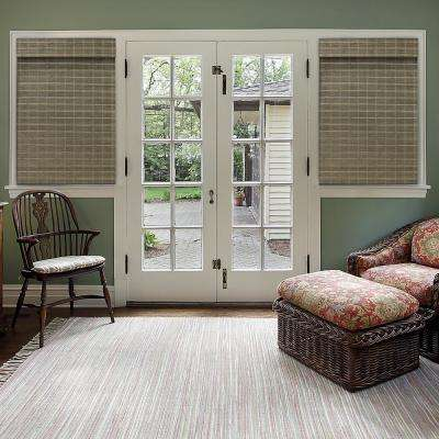 Cut-to-Size Driftwood Cordless Light-Filtering Textured Bamboo Shades 31 in. W x 64 in. L