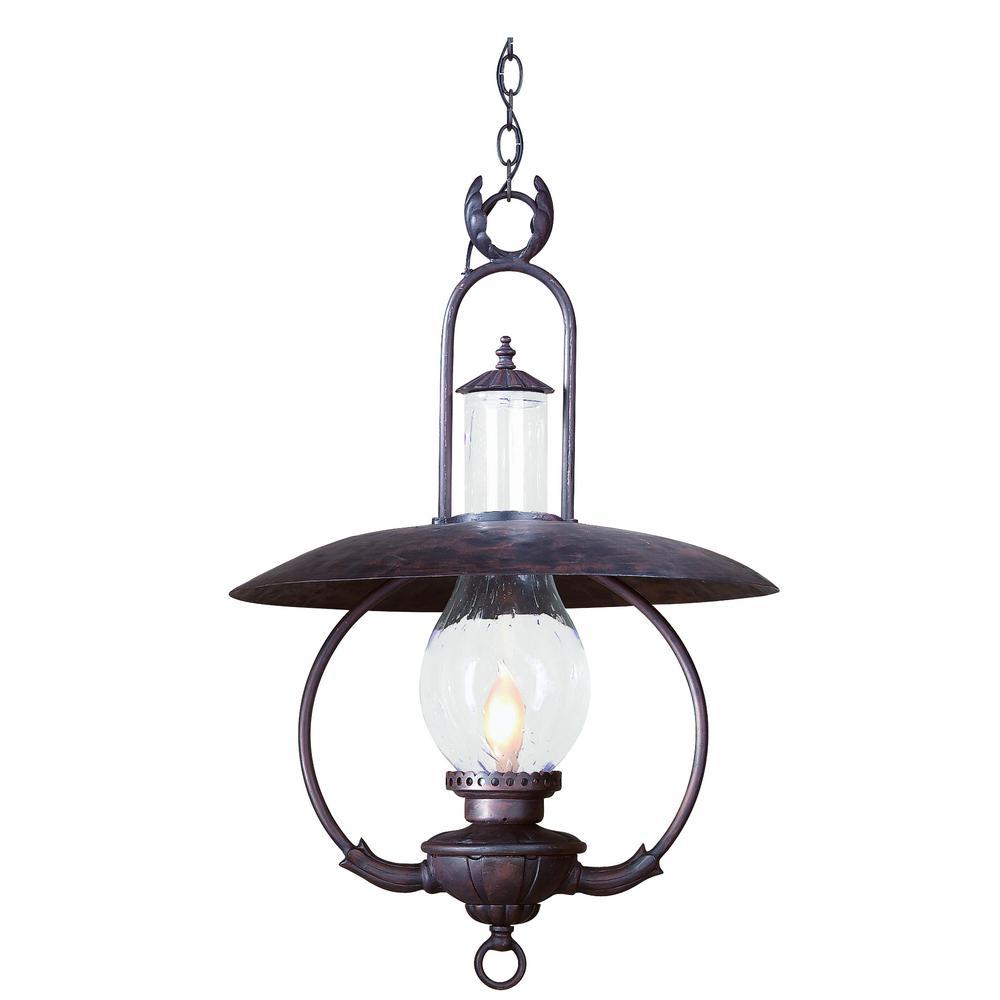 Hanging Outdoor Lighting Fixtures: Troy Lighting La Grange 1-Light Old Bronze Outdoor Pendant