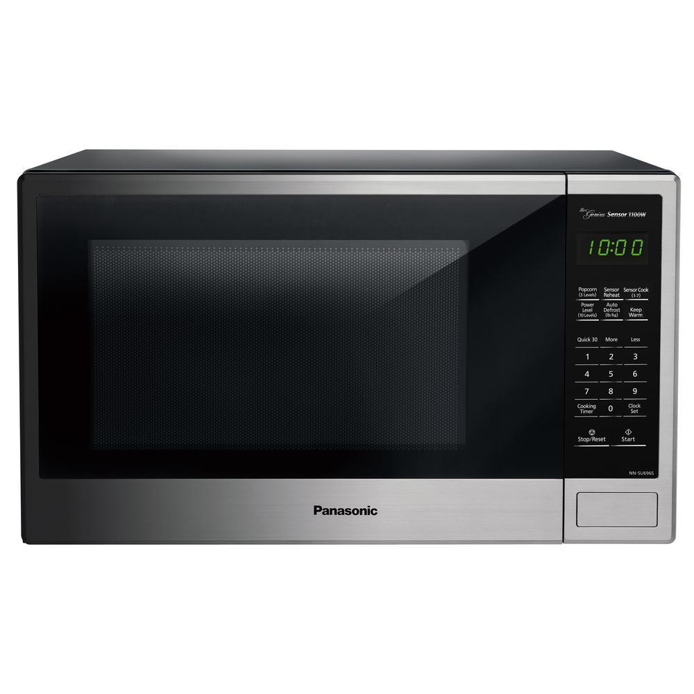 1.3 cu. ft. Countertop Microwave in Stainless Steel with Genius Cooking Sensor