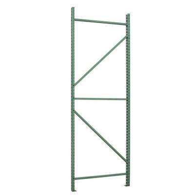 144 in. H x 3 in. W x 42 in. D Steel Commercial Pallet Shelving Rack in Light Green