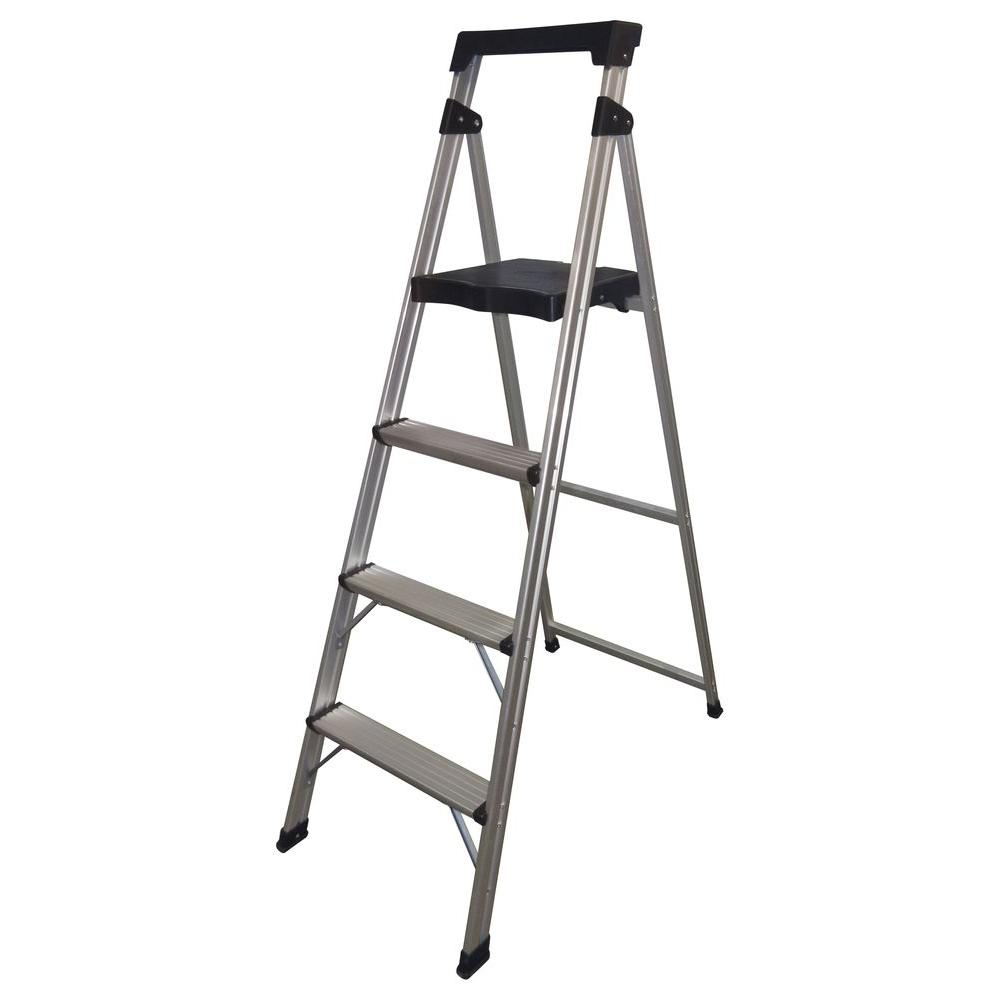 Easy Reach by Gorilla Ladders 4-Step Aluminum Ultra-Light Step Stool Ladder with 225 lb. Load Capacity-DISCONTINUED