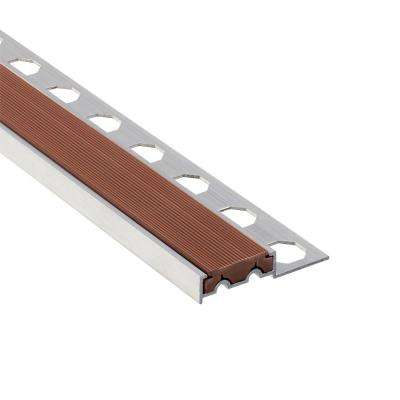 Novopeldano 1P PVC Leather 3/8 in. x 98-1/2 in. Aluminum-PVC Tile Edging Trim