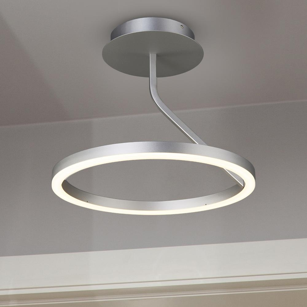 Vonn lighting zuben collection 18 in integrated led modern circular vonn lighting zuben collection 18 in integrated led modern circular ceiling fixture in silver mozeypictures Image collections
