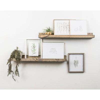 Rustic Luxe 7 in. x 36 in. Gray Pine Floating Decorative Wall Shelves