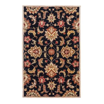 Black Tan Area Rugs The Home