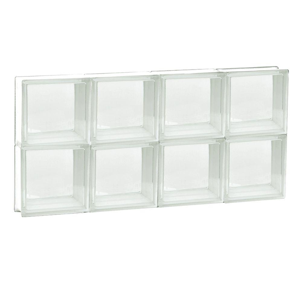 Clearly secure 31 in x 15 5 in x in frameless non for Where to buy glass block windows