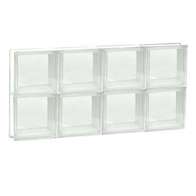 31 in. x 15.5 in. x 3.125 in. Frameless Non-Vented Clear Glass Block Window