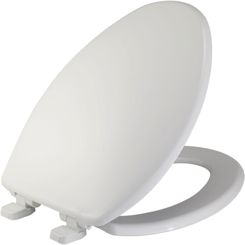 bemis raised toilet seat. BEMIS Just Lift Elongated Closed Front Toilet Seat in White