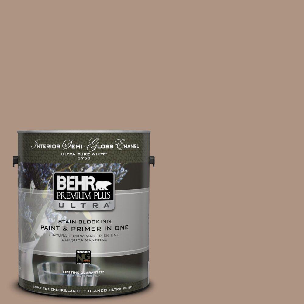 1-gal. #HDC-SP14-5 Mocha Tan Semi-Gloss Enamel Interior Paint