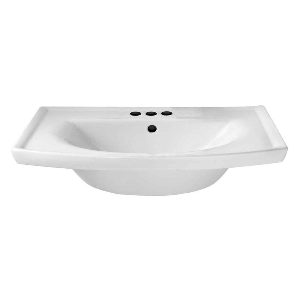 American Standard Topic Grande 6 in. Pedestal Sink Basin in White