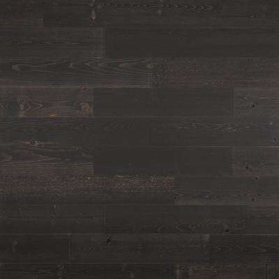 1/8 in. x 5 in. x 12-42 in. Peel and Stick Black Wooden Decorative Wall Paneling (10 sq. ft./Box)