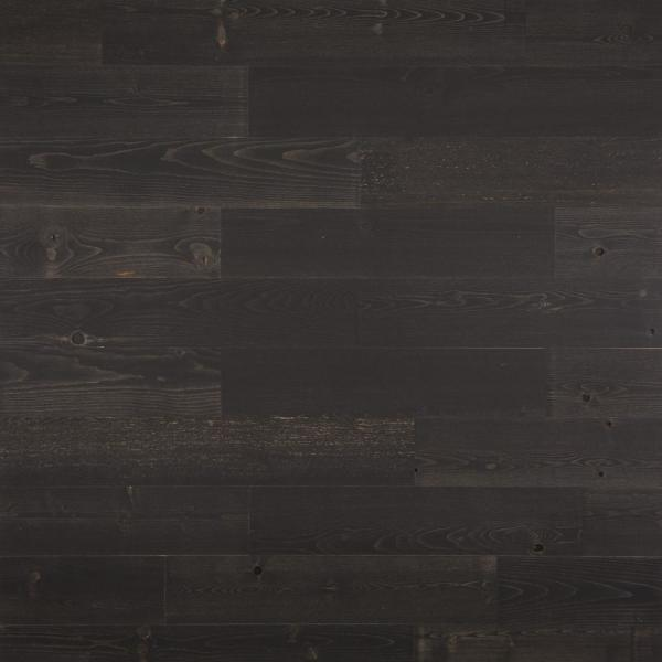 1/8 in. x 5 in. x 12-42 in. Peel and Stick Black Wooden Decorative Wall Paneling (40 sq. ft./Box)