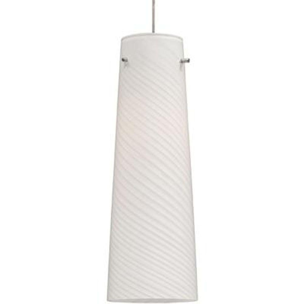 null Sprial 1-Light Satin Nickel RapidJack Pendant