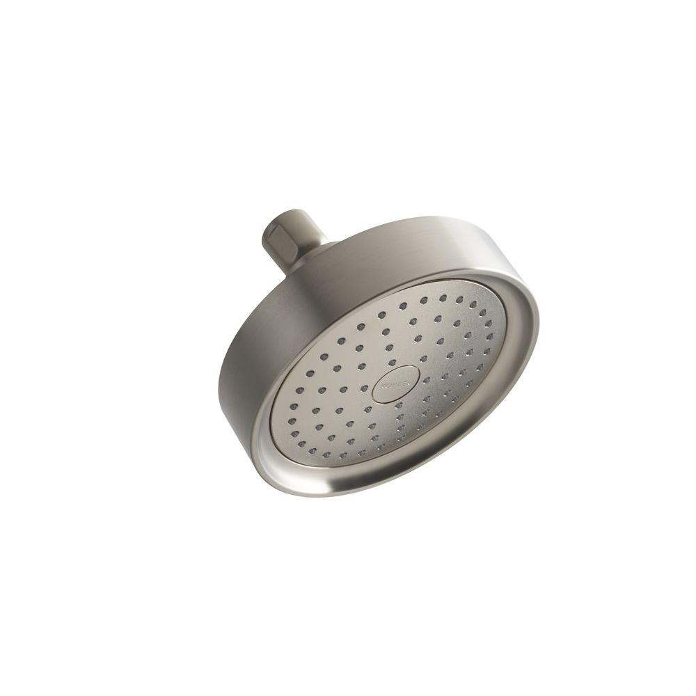 KOHLER Purist Katalyst 1-spray Single Function 5 1/2 in. Fixed Shower Head in Vibrant Brushed Nickel
