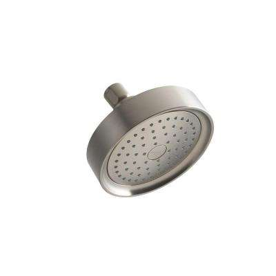 Purist Katalyst 1-spray Single Function 5 1/2 in. Fixed Shower Head in Vibrant Brushed Nickel